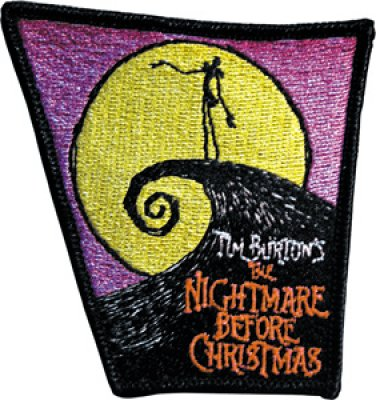Jack Skellington Nightmare Before Christmas poster patch