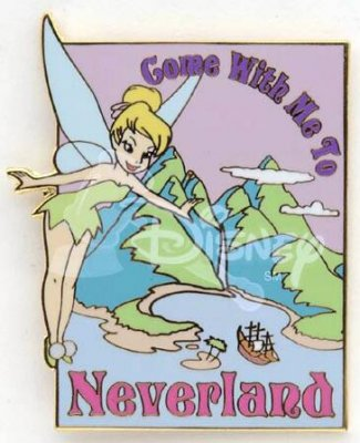 Come with me to Neverland poster pin