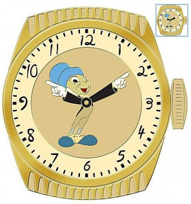 Fun Time Jiminy Cricket watch series pin