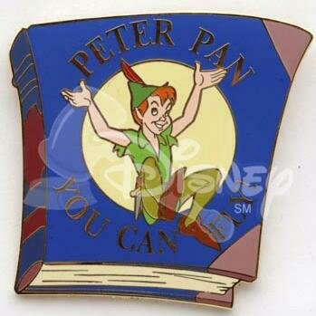 You Can Fly Peter Pan Book Pin From Our Pins Collection Disney