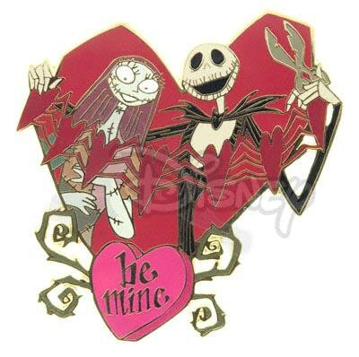 Jack Skellington and Sally St Valentine's Day BE MINE pin
