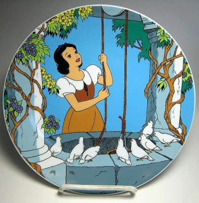 At the wishing well decorative plate