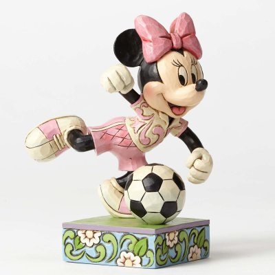'Goal!' - Minnie Mouse playing soccer figurine (Jim Shore Disney Traditions)