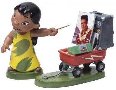 'Elvis Presley Was A Model Citizen' - Lilo with wagon figurine (WDCC)