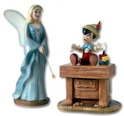 'The gift of life is thine' - Pinocchio and Blue Fairy figurine (WDCC)
