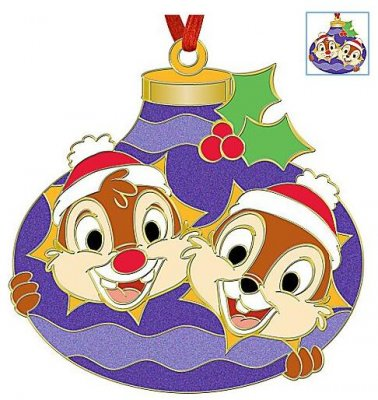 Chip N Dale Holiday Ornament Pin From Our Pins Collection