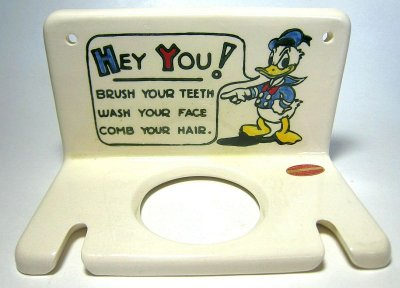 Donald Duck toothbrush holder