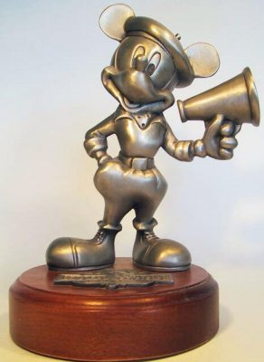 Mickey Mouse as a Hollywood movie director large pewter figure