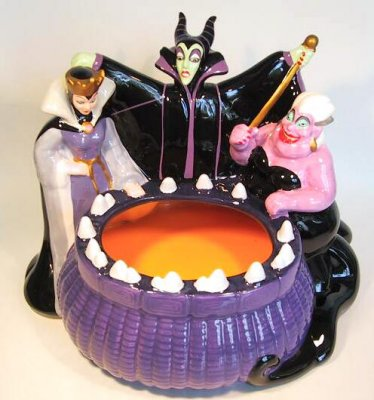 Disney Cookie Jars >> Disney Villains candy dish from our Other collection ...