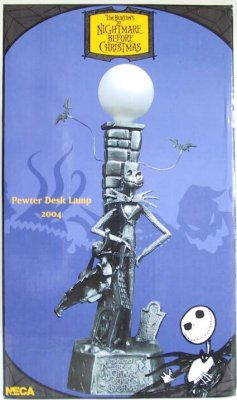 Jack Skellington And Zero Pewter Desk Lamp From Our Pewter
