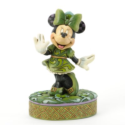 'Wishing On A Shamrock' - Minnie Mouse with shamrock figurine (Jim Shore)