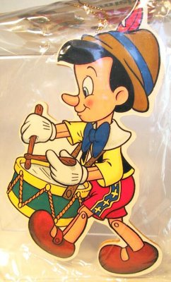 Pinocchio Playing Drum Wooden Ornament From Our Christmas