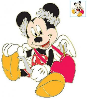 mickey mouse as cupid st valentines day series pin