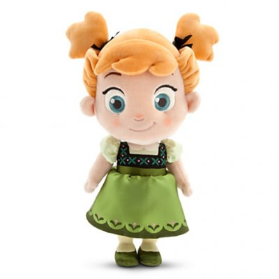 Anna as a toddler plush soft toy doll (13 inches) (from 'Frozen')