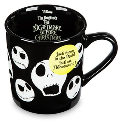 Jack Skellington glow-in-the-dark coffee mug