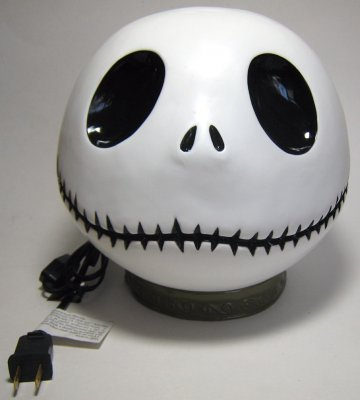 Jack Skellington head table top night light
