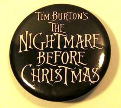 Nightmare Before Christmas logo button