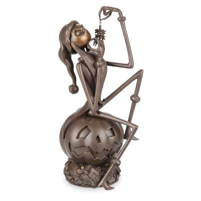 Jack Skellington sitting on pumpkin 25th anniversary bronzed limited edition Disney figurine