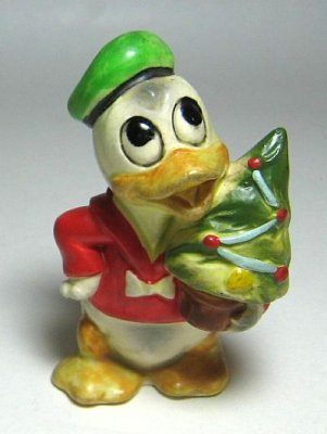 Donald Duck Christmas figurine (1950s)