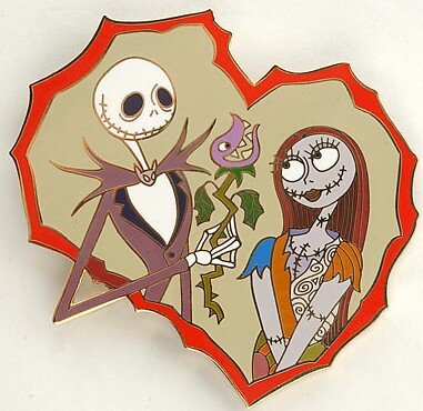 jack skellington and sally valentine s day pin from our pins
