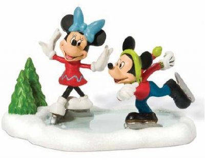 Mickey and Minnie go skating (Department 56)