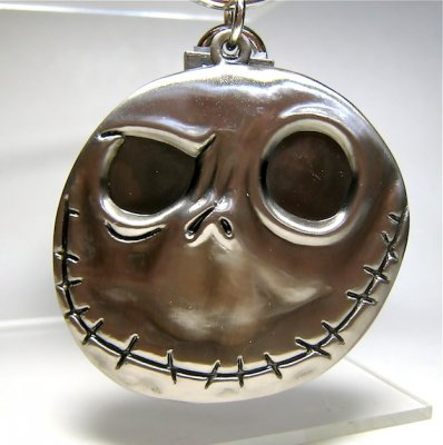 'Good day, bad day' two-faced Jack Skellington pewter keychain