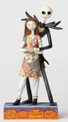 'Fated Romance' - Jack Skellington and Sally figurine (Jim Shore Disney Traditions)