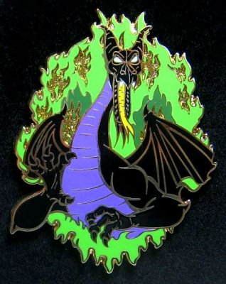 Maleficent As Dragon Fire Jumbo Pin 2010 From Our Pins
