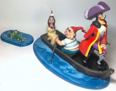 'An Irresistable Lure' - Captain Hook, Smee, Tiger Lily and Croc figurine (WDCC) (DAMAGED)