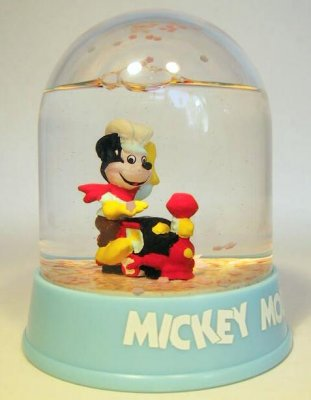 Mickey Mouse as train driver waterball