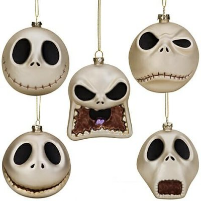 Jack Skellington head glass ornament set from our Christmas ...