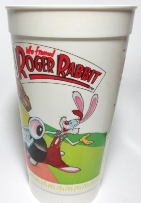 'Who Framed Roger Rabbit' souvenir McDonald's/Coca-Cola cup #2