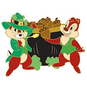 Chip 'N Dale St Patrick's Day series pin