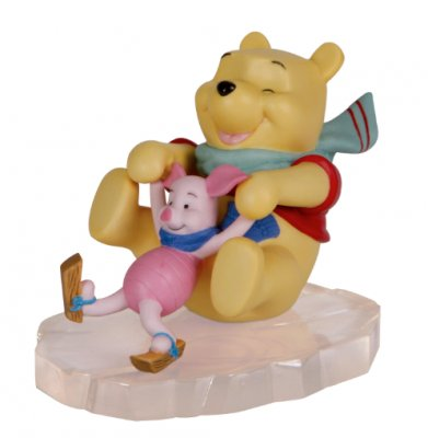 'Friends through thick and thin.' - Winnie the Pooh & Piglet on ice figure