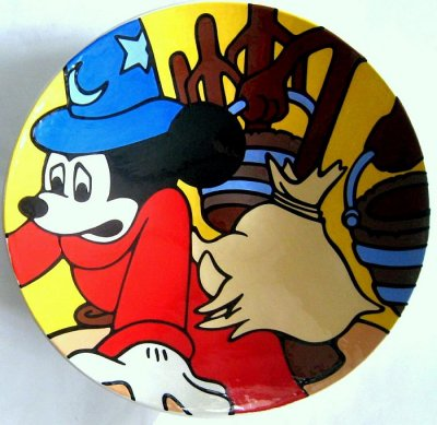 Mickey Mouse as Sorcerer's Apprentice large charger plate (Brenda White)