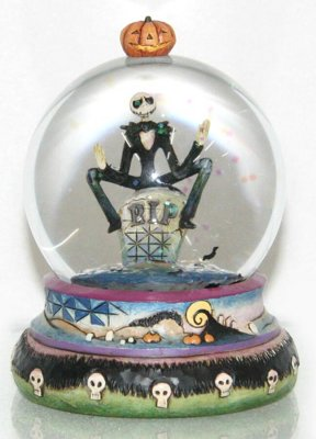 Halloween Jack Skellington Waterball Jim Shore Disney Traditions