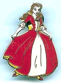 Belle In Red Dress Pin