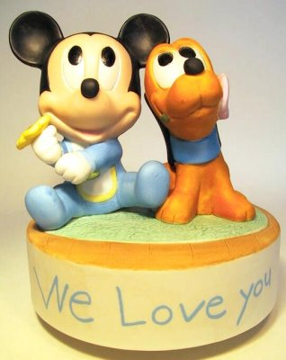 Baby Mickey Mouse and Baby Pluto Figurine from our Other collection ...