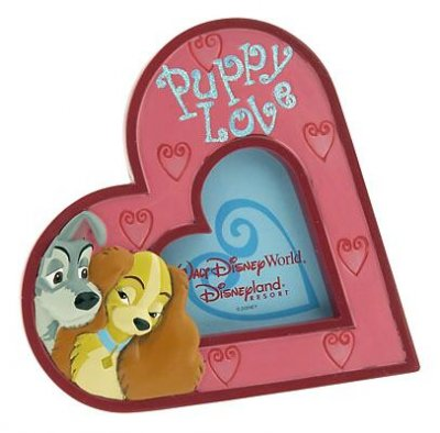 Puppy Love Lady Tramp Heart Shaped Picture Frame From Our Other