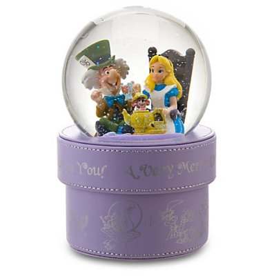 Alice in Wonderland snowglobe gift box