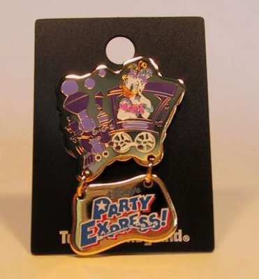 Daisy Duck on the Party Express train pin