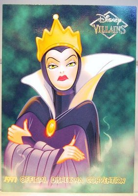 Disney Cookie Jars >> Evil Queen Disney Villains 2-sided card from our Other ...