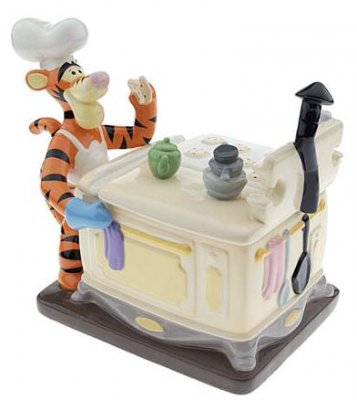 Chef Tigger at the oven cookie jar