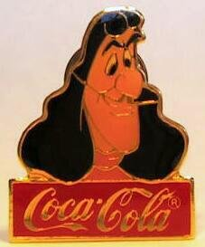 Captain Hook Coca-Cola pin