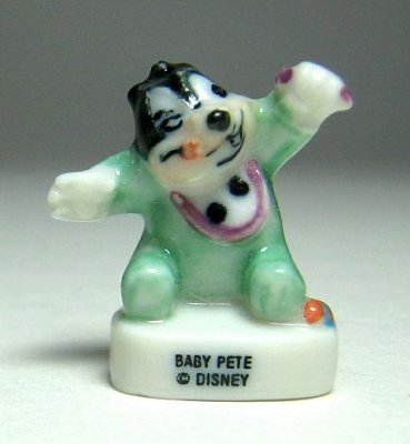 Baby Peg Leg Pete porcelain miniature figure