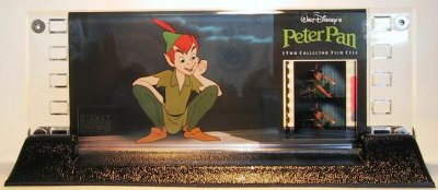 Mounted Strip Of Film Showing 2 Frames Of Peter Pan In The