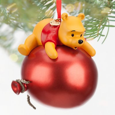 winnie the pooh on red balloon sketchbook ornament 2013