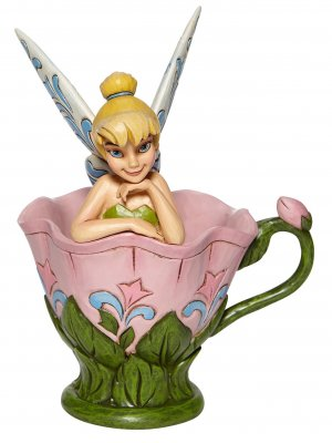 'A Spot of Tink' - Tinker Bell sitting in flower figurine (Jim Shore Disney Traditions)
