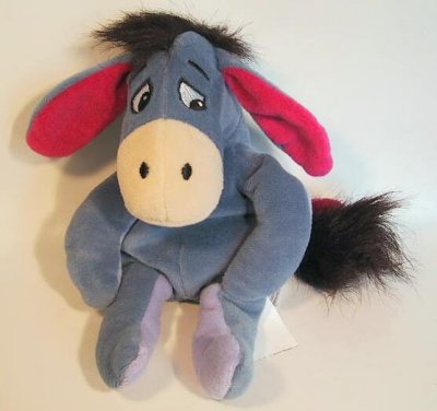 Beani Babys on Disney Collectibles And Memorabilia   Eeyore Beanie Baby   Eeyore