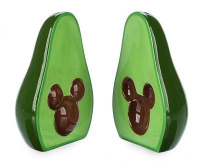 Disney's Mickey Mouse avocado salt and pepper shaker set